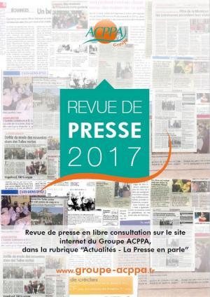 Revue de Presse Groupe ACPPA 2017